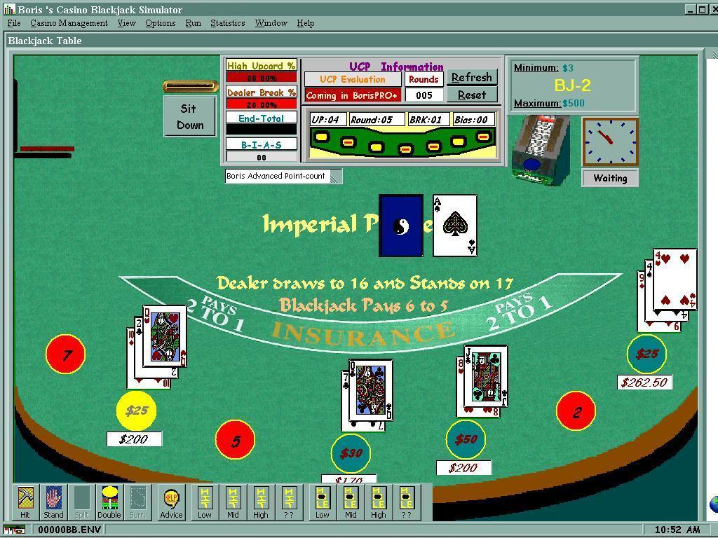 Blackjack break even
